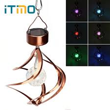 solar powered wind chime light itimo solar powered wind chimes stainless steel wind spinner rgb