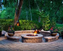 patio ideas with pavers designing a patio around a fire pit diy