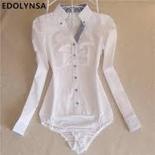 Plus Size Bodysuit Blouse Online Get Cheap Button White Shirt Aliexpress Com Alibaba Group
