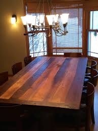 reclaimed barnwood dining room table with metal base