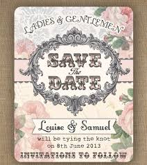vintage wedding invites save the date cards and wedding invites with vintage feel