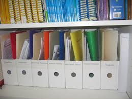 organzing for organizing lesson materials and files