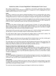 Child Support Contract Template Teacher Contract Sample Contractual Term Teachers