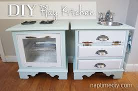 play kitchen from furniture diy play kitchen naptime diy