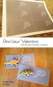 free printable dinosaur valentine cards paper trail design