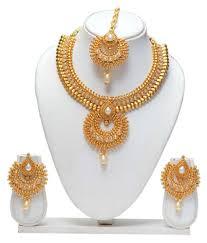 necklace set images images Latest golden copper necklace set buy latest golden copper JPG