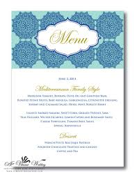 Wedding Invitations With Menu Cards Menu Cards U2013 A Vibrant Wedding