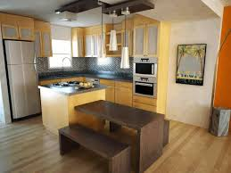 nice small kitchens small island and suspended stainless steel