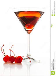manhattan drink manhattan cocktail garnished with a cherry stock image image