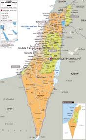 Europe Map Cities by Detailed Political And Administrative Map Of Israel With All Roads