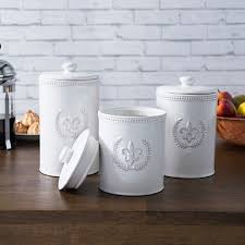 white ceramic kitchen canisters white kitchen canister set logischo