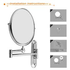 wall mounted extendable mirror bathroom wall mounted bathroom mirror house decorations