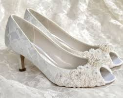 wedding shoes low heel ivory shoes wedding bridal flowergirl baby shoes by pink2blue on etsy