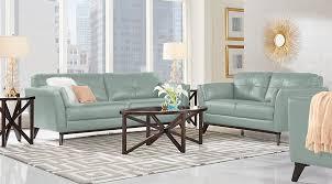 Blue Leather Sofa by Sofia Vergara Gabriele Spa Blue 5 Pc Leather Living Room Leather