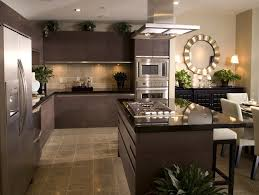 simple kitchen with dark brown plywood kitchen cabinet remodel