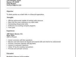 31 sample resume for a bank teller with no experience bank teller