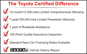 toyota certified pre owned cars toyota certified pre owned vehicle program
