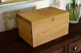 large wooden box personalised wooden box with hinged lid makemesomethingspecial