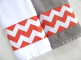 Red And Gray Bathroom Sets Orange Chevron Towels Towels Hand Towel Orange Bathroom