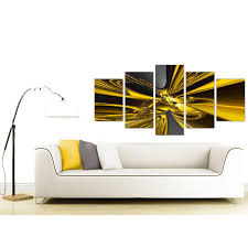 Yellow Black Room Extra Large Abstract Canvas Prints In Yellow And Black