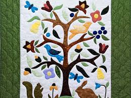 applique tree of quilt exquisite well made amish quilts