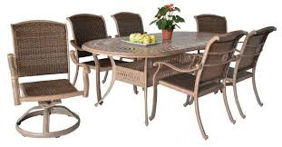Cast Aluminium Outdoor Furniture by Outdoor Patio Furniture Santa Clara Dining Set Cast Aluminum Oval