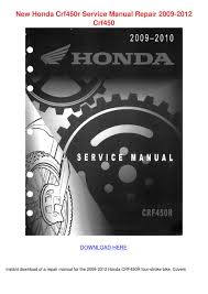 new honda crf450r service manual repair 2009 by rositareeves issuu