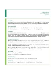 Sample Marketing Assistant Resume Sample Resume Administrative Manager Resume For Your Job Application