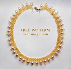 necklace pattern images Free pattern for necklace sun island beads magic jpg