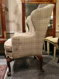 Beige Wingback Chair Upholstered Wingback Chairs Homesfeed