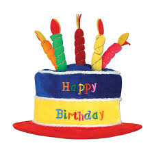 birthday cake beistle 60717 plush birthday cake hat kitchen dining