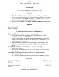 Resume With No Experience Sample Resume Work Resume Templates For First Time Job Seekers Make