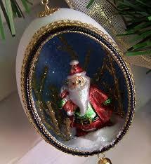 ornament santa claus real duck egg eggshells