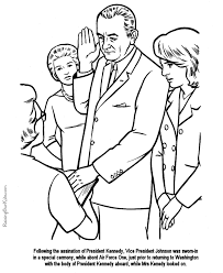 lyndon b johnson coloring pages free and printable
