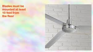 casa vieja velocity ceiling fan 72 brushed nickel youtube