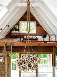 bedroom rustic ladder for attic bed design idea and creative