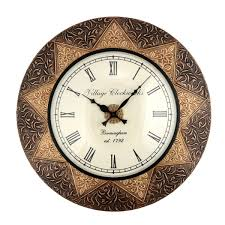 Wooden Wall Clock 12 Inch Dial Mdf Design Wooden Wings Decorative Wall Clock Wall