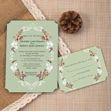 Shabby Chic Wedding Invitations by Chic Vintage Floral Country Rustic Ticket Shape Wedding Invites