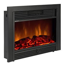 black embedded sky 1826 electric 28 5 inch fireplace insert with remote