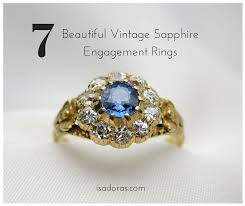 rings beautiful images Perfectly classic 7 beautiful vintage sapphire engagement rings jpg