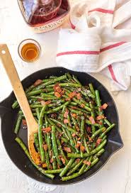 asparagus thanksgiving skillet bourbon bacon green beans the cookie rookie