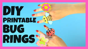 printable bug paper rings for kids paper craft idea youtube