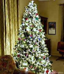 christmas trees with colored lights decorating ideas christmas tree with colored lights lit hinged color changing