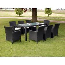 Rattan Patio Table And Chairs Patio Furniture Dining Set Outdoor Wicker Rattan 17 Pc Garden