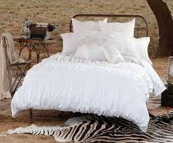 Ruffled Bed Set White Shabby Chic Ruffled Bedspread And Comforter With Black