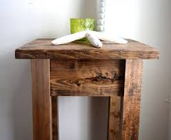 Pine Side Table The Walnut Stained Pine Side Table Nightstand Pot