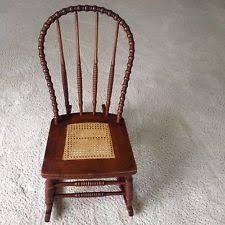 Antique Nursing Sewing Rocker Small Star Pattern Seat Cane Rocking Chairs Antique Furniture Ebay