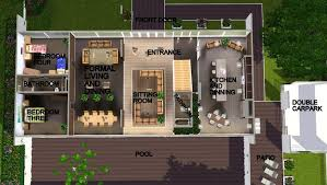 modern home floorplans modern mansion floor plans sims 3 homes zone