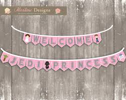 pink chevron star wars baby shower bunting banner welcome