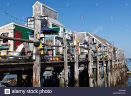 captain jack u0027s wharf provincetown cape cod massachusetts usa stock